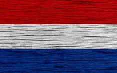 Indir duvar kağıdı Hollanda bayrağı, 4k, Avrupa, ahşap doku, Hollanda bayrak, ulusal semboller, sanat, Hollanda