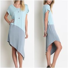 Dress by the Sea⚓️ Two Toned Asymetrical Dress. Also in Black Umgee Dresses