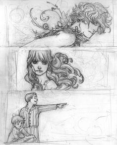 Peter Pan: Graphic Novel - Character Drawings by ~RenaeDeLiz on deviantART Disney Drawings, Art Drawings, Drawing Disney, Pencil Drawings, Character Drawing, Character Design, Character Sketches, Graphic Novel Art, Novel Characters