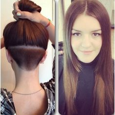 Very cool! Angled bob next with a glimpse of undercut showing......?
