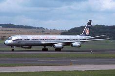 N798FT Prestwick 20-8-1975 | N798FT : Douglas DC-8-63CF : Fl… | Flickr Mcdonald Douglas, Douglas Dc 8, Douglas Aircraft, 1975, Airplanes, Tigers, Aviation, Vintage, Aircraft