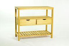 Bancada 2 Gavetas Aquiles - Amarelo - Wood Prime