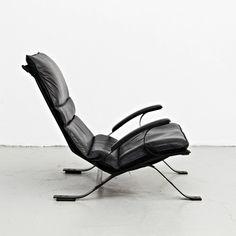 Pep Bonet; Enameled Steel 'Tuman' Lounge Chair for Levesta, c1969 .