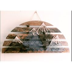 Mountain scene string art