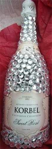 Bedazzled Champagne bottle