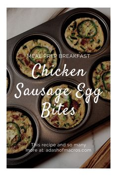 We have heard forever that breakfast is the most important meal of the day…so don't skip it! Eat these Easy Chicken Sausage Egg Bites and never miss breakfast again.Don't have time in the morning? Make a batch or two of these this weekend and have breakfast prepped for the entire week! These chicken sausage egg bites are better then anything you have seen in the freezer aisle or Starbucks! Healthy Breakfast Meal Prep, Breakfast Dishes, Sausage And Egg, Chicken Sausage, Easy Meal Prep, Easy Meals, Egg Bites Recipe, Macro Meals, Inexpensive Meals
