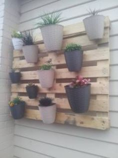 My first (but not last) pallet project: A vertical garden