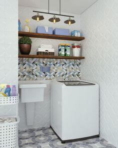 Laundry Decor, Laundry Room Design, Home Room Design, Bathroom Interior, Interior Design Living Room, Outdoor Laundry Rooms, Tiny Laundry Rooms, Küchen Design, Kitchen Decor