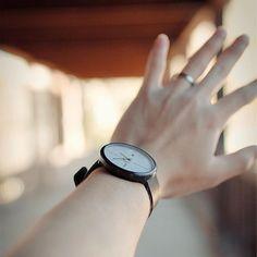 The Klasern MOT 02 is an all-black quartz watch featured a stainless steel case and genuine leather straps. #Klasern #watches #watch #timepiece #jewelry #accessories #design #designedinsaigon