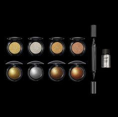 Metalmorphosis 005, sees creamy eyeshades in a metallic mix-and-match of silver, bronze, copper and the classic Gold 001 shade, a dual-ended black eyeliner and the Mehron mixing liquid, which is the ultimate beauty blender