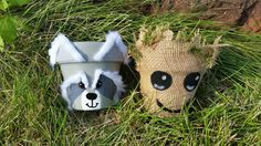 DIY Guardians of the Galaxy Groot and Rocket Raccoon Containers