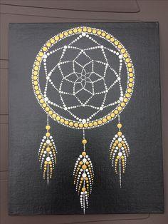 Dot Art Painting, Mandala Painting, Stone Painting, Dream Catcher Art, Mandala Canvas, Mandalas Drawing, Mandala Rocks, Dots Design, Texture Art