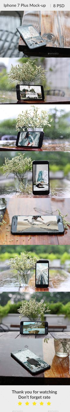 Phone 7 Plus Waterdrop Mockup by bluestack iPhone 7 Plus Mockup. Which available in high resolution 6000x4000px. Easy change via Smart Object.Image preview credit:Unsplash F