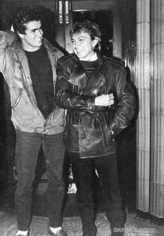 """George Michael With David Cassidy of """"Partridge Family"""" fame.  Repinned by Tiffany Says Hop Into My DeLorean (1)"""