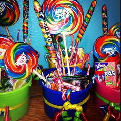 Candy land table center pieces