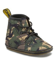 Look what I found on #zulily! Green Camo Auburn Booties by Dr. Martens #zulilyfinds