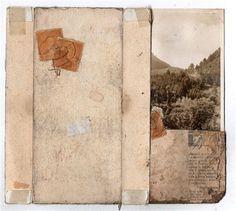 untitled  by Kariann Burleson  collage: ephemera, antique paper, photograph