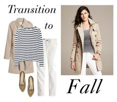 """""""Transition to Fall"""" by bluehydrangea ❤ liked on Polyvore featuring H&M, Banana Republic, J.Crew and Adrienne Vittadini"""