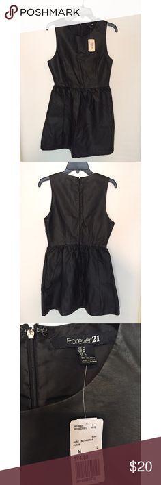 Forever21 Black Leather Dress NWT! Black leather dress from forever21, never worn! Forever 21 Dresses