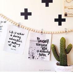 Love the bead wall string, just great instead of just using string