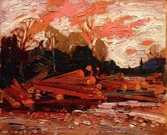 The Athenaeum - Abandoned Logs (Tom Thomson - ) Emily Carr Paintings, Paintings I Love, Nature Paintings, Group Of Seven Artists, Group Of Seven Paintings, Canadian Painters, Canadian Artists, Landscape Art, Landscape Paintings
