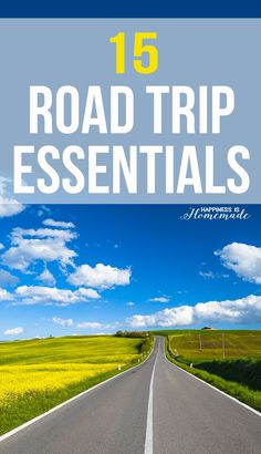 15 Road Trip Essentials + Printable - must have items for your next road trip – don't leave home without everything on this list! Free printable checklist to make sure you don't forget anything! - Happiness is Homemade                                                                                                                                                      More