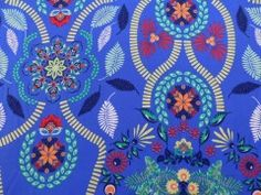 Viscose Estampada Abstrato Azul