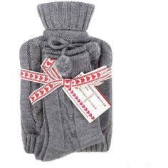 Grey hot water bottle and socks set (€11) ❤ liked on Polyvore featuring intimates, hosiery, socks, accessories, gifts, lingerie, lingerie+socks &amp tights, christmas lingerie, gray socks and christmas socks