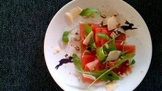 Carpaccio inspired watermelon. Dream Recipe, Caprese Salad, Dressings, Watermelon, Salads, Inspired, Recipes, Food, Eten