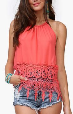 Beautiful halter top in #coral http://rstyle.me/n/f3xw4nyg6