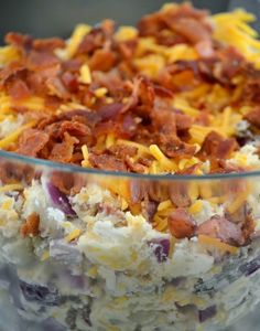 Fully Loaded Baked Potato Salad ~ Made this for my last camping trip ans it was a hit! Even my picky 3yr old & 5yrold loved it.