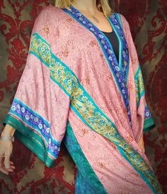 Gypsy Kimono Boho Chic Bohemian India Saree Silk by HippieWild