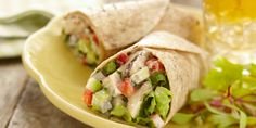 Top Easy Recipes from Food Network Canada; your recipe source for quick and simple recipes, including lunch, dinner, desserts and fast recipes. Wrap Recipes, Lunch Recipes, Cooking Recipes, Healthy Recipes, Fast Recipes, Salad Recipes, Food Network Canada, Salad Wraps, Cooking Classes For Kids