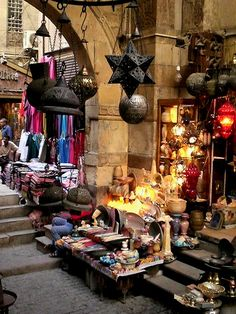 "EGYPT - Cairo: Khan Al-Hkalili Bazar is one of the most amazing ""old world"" markets. Places Around The World, Oh The Places You'll Go, Places To Travel, Around The Worlds, Visit Egypt, Egypt Travel, Thinking Day, Cairo Egypt, Cairo"