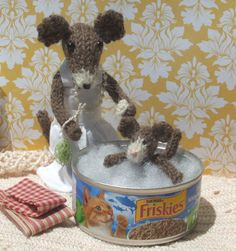 Knitted Mouse Baby NEW by ViolaSueKnits on Etsy