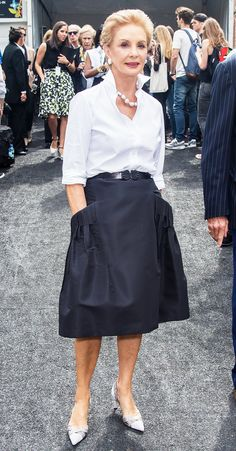 Carolina Herrera- her interview with Man Repeller is one of the most hilarious, amazing things I've ever seen =D!!!!!!!!!!! Carolina Herrera12 / 17 Carolina Herrera PHOTO: Getty Images The designer responsible for most women considering a crisp white button-down a closet staple, Carolina Herrera wears them very well herself.
