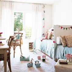 How to decorate shared children's bedrooms - Decor Scan : The new way of thinking about your home and interior design Childrens Bedrooms Shared, Childrens Room, Girls Bedroom, Girl Room, Deco Kids, Deco Design, Home Remodeling, Room Decor, Interior Design