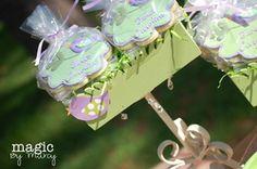 """Tweet"" baby Caroline - Baby Bird (purple and green) baby shower"