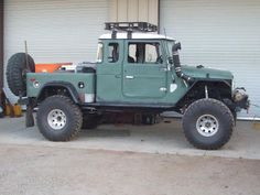 Toyota FJ, it's not a jeep but its nice Toyota Fj40, Toyota Trucks, 4x4 Trucks, Cool Trucks, Jeep 4x4, Jeep Truck, Jeep Rubicon, Toyota Land Cruiser, Vw Bus