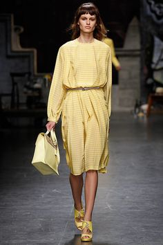 Trussardi RTW Spring 2013 - I really like dresses like this.