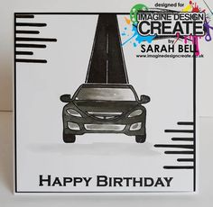 Designed by Sarah Bell using Cars stamps by Imagine Design Create