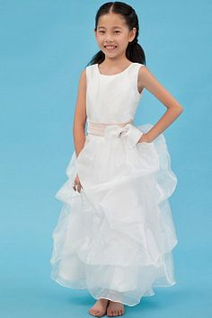 Flower Girl Dresses online shop offers White A line Scoop Ankle length Organza Sash Flower Girl Dress features scoop neckline a line/princess in white color,ankle length organza dress with zipper back and train for wedding party first communion . Tulle Flower Girl, Cheap Flower Girl Dresses, Cheap Prom Dresses, Cheap Wedding Dress, Little Girl Dresses, Bridesmaid Dresses, Wedding Dresses, Organza Dress, Tulle Ball Gown
