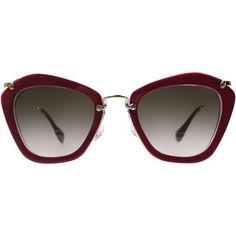 Miu Miu Noir MU 10NS DHH1E2 Fashion Plastic Sunglasses