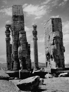 Gate of Xerxes in Ruins of the Ancient Persian City of Persepolis Premium Photographic Print by Dmitri Kessel at AllPosters.com
