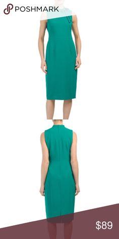 0802eade987 NWT Maggy London Tie Neck Midi Dress NWT Maggy London Tie Neck Midi Dress -  Green