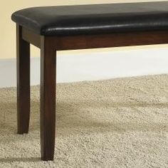 @Overstock - Accent the look of your dining area with this cherrywood vinyl dining bench. The clean lines of this Asian wood bench will accentuate the look of both modern and traditional design schemes. The dark brown vinyl upholstery offers comfortable seating.http://www.overstock.com/Home-Garden/Winsford-Burnished-Cherry-Finish-Bench/6748807/product.html?CID=214117 $93.59