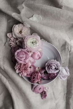 lilacs pinks and purples, are favourite arrangement