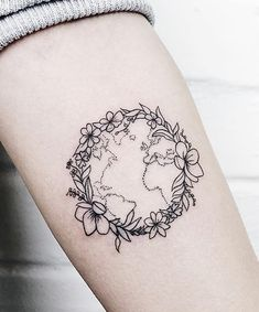 10 Tattoo Designs That Are Perfect for Earth Day tattoo tattoos inked ink tattooing artist mas Globe Tattoos, Palm Tattoos, Subtle Tattoos, Word Tattoos, Body Art Tattoos, Sleeve Tattoos, Sexy Tattoos, Tatoos, Faith Tattoos