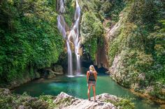 Things to do in Cuba - girl looking at Vegas Grande Topes de Collantes waterfall in Cuba Traveling to Cuba is getting easier & easier.There are tons of things to do in Cuba, amazing beaches in Cuba, Cuban food, our favorite things to do in Cuba Cienfuegos, Beach Trip, Vacation Trips, Hawaii Beach, Oahu Hawaii, Cuba Girl, Cuba Itinerary, Villa Clara, Cuba Travel