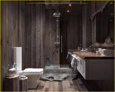 25 Cozy Wooden Bathroom Designs Ideas https://decomg.com/25-cozy-wooden-bathroom-designs-ideas/